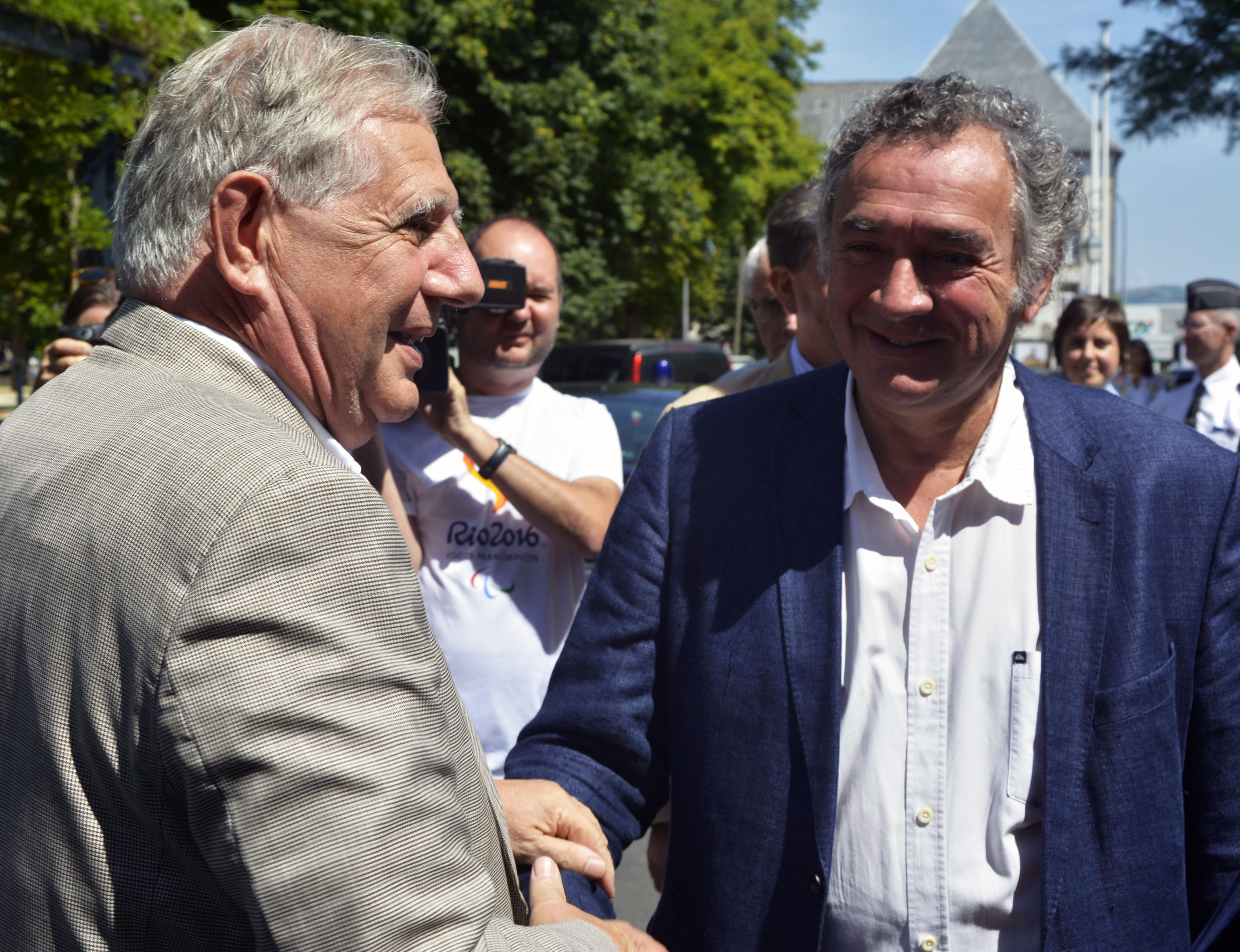 Visite ministérielle de Jacques Mézard à Saint-Flour - 30 juillet 2018