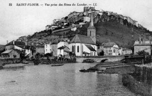 Photo archive vue de la ville basse saint flour