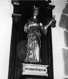 sainte christine statue