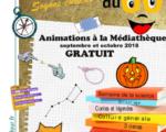 ANIMATIONS SEPT - OCT 2018