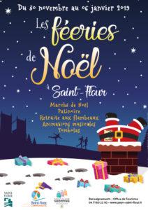 affiche feeries de noel 2018 saint flour